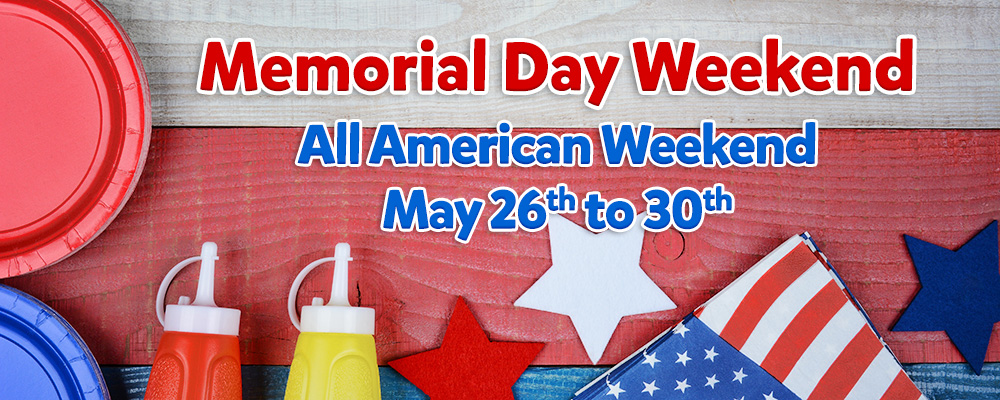Join us for our all American Weekend