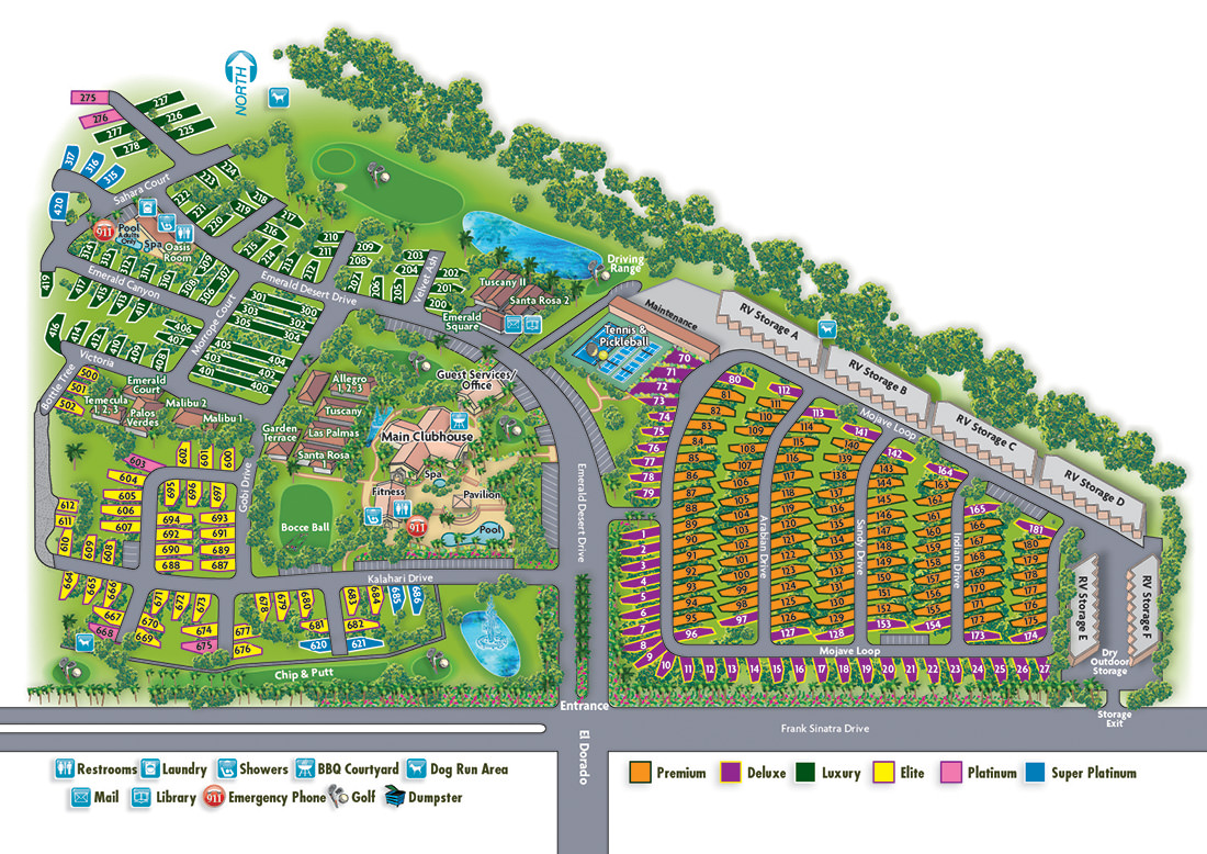 Emerald Desert RV Resort Sitemap